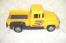 1956 FORD PICK UP TRUCK YELLOW W/ FLAMES DESIGN MADE IN USA STROMBECKER