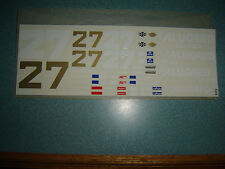 #27 Rusty Wallace ALUGUARD ANTIFREEZE PONTIAC WATER SLIDE DECAL SHEET 1/24