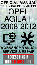 #ACCESS LINK OFFICIAL WORKSHOP MANUAL SERVICE & REPAIR OPEL AGILA II 2008-2012