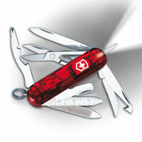 Victorinox Swiss Army Pocket Knife Midnite MiniChamp Transparent Red, 58mm 53977