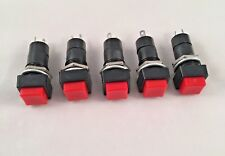 5 x Are Switch Momentary ON Open Contact Push Square Button Red Blue Black