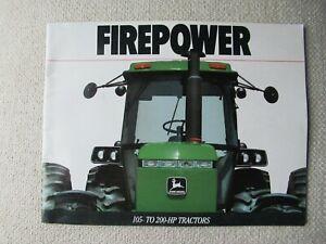 1990 John Deere 4055 4255 4455 4555 4755 4955 tractor brochure
