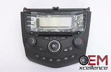 03-07 Honda Accord Radio CD AC Control Assem Face OEM Match Part # 3913SDNA1ZA