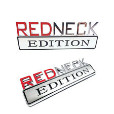NEW REDNECK EDITION TRUCK BOAT CAR EMBLEM LOGO DECAL SIGN RED NECK CHROME