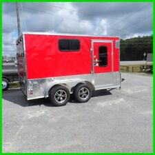 7x12 2ft v nose 14'  ramp enclosed cargo motorcycle camper trailer 3 windows new