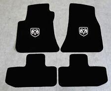 Autoteppich Fußmatten für Dodge Challenger ab Bj.2008 Velours Nubuk weiss Neu