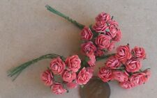 1:12 Scale 3 Bunches (30 Flowers) Of Red Paper Roses Tumdee Dolls House F