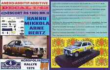 ANEXO DECAL 1/43 FORD ESCORT RS 1800 ROTHMANS H.MIKKOLA ACROPOLIS 1979 DnF (04)
