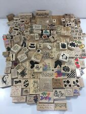 Huge Mixed Lot Of 160 Vintage Rubber Stamps Wooden Mounted PSX DOTS Stampin' Up