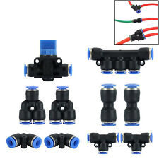 10Pc 6mm Od Push To Connect Fitting Pneumatic Fittings for Air Hose / Tubes