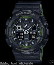 GA-100L-1A Black G-shock Casio Watches 200m Resin Band Analog Digital New Light