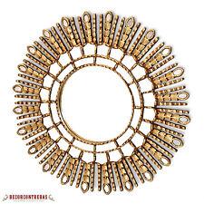 New! Gold Sunburst Mirror Cuzco style 'Gold Princess Sun'- Handmade Wall Mirrors