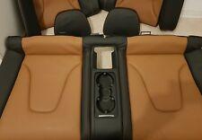 AUDI A5 S5 8F Cabrio : Rücksitzbank Leder Sitz Bezug CognacBraun