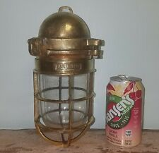 Authentic Ship Salvaged Solid Brass Passageway or Sconce Light