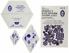 Marti Michell Patchwork Template Large Hexagon Set H, Pack of 3