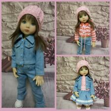 Outfit for the Little Darling doll. Clothing of denim.