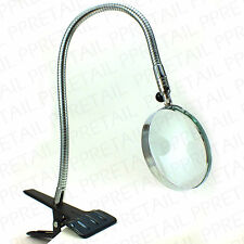 LARGE CLAMP STAND DESKTOP MAGNIFYING GLASS Heavy Duty Flexible Desk Magnifier