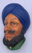 Bossons Chalkware Middle Eastern Blue Turban