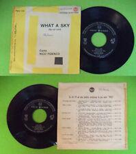 "LP 45 7"" NICO FIDENCO What a sky Su nel cielo italy RCA 45N 1109  no cd mc dvd"