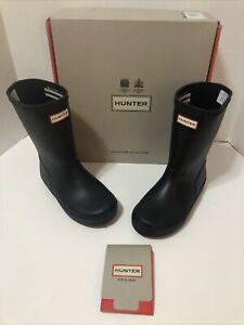 Hunter Boys Kids First Classic Black Rain Boots 12 Medium (D) Little Kid 8647