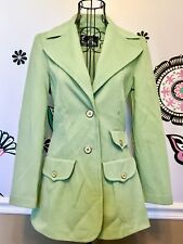 Vintage JACK WINTER 100% Textured Trevira Polyester Double Knit Lime Green Suit