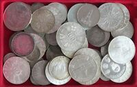COLLECTION LOT SILVER, ONLY SILVER COINS WORLD 62PC 610GR  #xx20 020