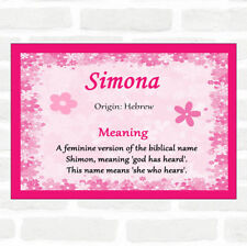 Simona Name Meaning Pink Certificate