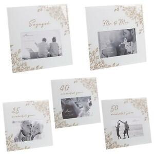 Occasions - Glass Photo Frame - Glitter / Wording - 6x4 - Grey - Choose Design