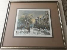 Antoine Boulet (French), Paris in Winter Lithograph Print, Signed & Numbered