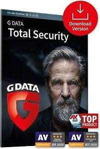 G DATA Total Security 2021 * 3 PC 1 Jahr * Protection GData DE Lizenz