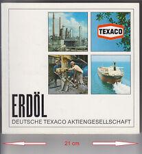 Deutsche TEXACO Erdöl Oil Öl Erdgas Förderung - viele FOTOS 52 Seiten