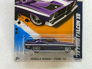 HOT WHEELS 2012 SUPER TREASURE HUNT 73 FORD FALCON XB #10/10 WITH RUBBER TIRES