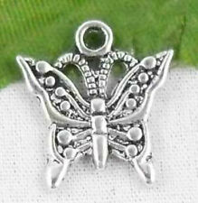 Free Ship 24Pcs Tibetan Silver (Lead-Free)butterfly Charms Pendant 17x15.5mm