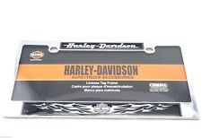 Harley Davidson Motorcycles Chrome Dome Metal Auto Tag License Plate Frame