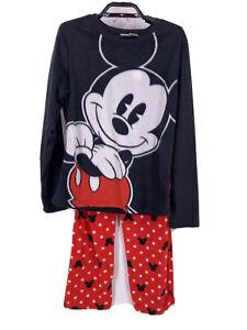 Disney Mickey Mouse Fleece Pajamas Womens Size M, Medium Juniors