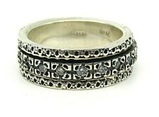 "AUTHENTIC MEDITATION SPINNER RING ""HALO"" 925 SILVER WITH C.Z."
