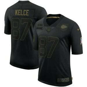 Travis Kelce Kansas City Chiefs Nike 2020 Salute To Service Limited-BLACK NWT