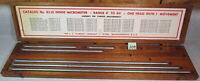 """Machinist STARRETT 823E Inside Micrometer 4"""" - 40"""" Parts Lot w/ Wooden Box NR!"""