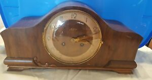 VINTAGE WESTMINSTER 1940'S FRANZ HERMLE SOLAR GERMAN CHIME MANTEL CLOCK WORKS