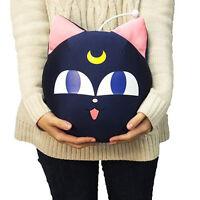 """Official BANDAI Sailor Moon Pet Cat LUNA P ball 13"""" Beads Cushion Pillow Toys US"""