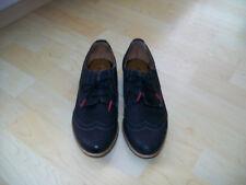 TAMARIS Damen Schnürschuhe Schuhe Halbschuhe  Gr.38, Leder, schwarz, TOP!