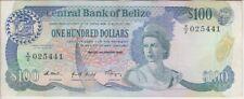 Belize Banknote P. 50b-5441 100 Dollars 1989, VF WE COMBINE