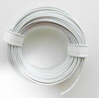 10 m Litze/Kabel Weiß z.B. für Märklin Spur H0 Modellbahn oder N, TT etc.
