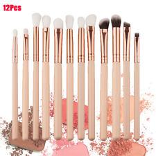 12PCS/Set Pro Eyeshadow Makeup Brush Set Eyeliner Blending Blusher Brushes Kits