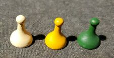 1972 Clue Replacement Tokens / Pawns  lot of 3 wood tokens