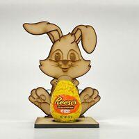 Easter Cream Egg Chocolate Rabbit Bunny Treat Gift Kid Boy Girl Holder + Egg