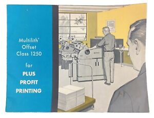 Vintage 1954 Multilith Offset Class 1250 Commercial Printer Sales Brochure