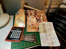 Vtg.Tandy Leather Leathercraft Starter Kit beginner w/ tools Booklets KnifePouch