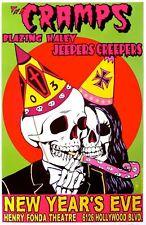 Cramps - Concert VINTAGE BAND POSTERS Song Rock Travel Old Advert #ob