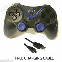 NEW RECHARGEABLE HIGH QUALITY BLUETOOTH WIRELESS GAMEPAD CONTROLLER FOR PS3 BLUE
